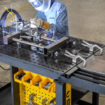 Intro to accurate square frame fixturing on the Rhino Cart® Mobile Welding Table., Strong Hand Tools